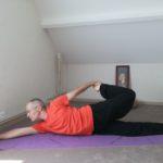 Posture Yoga Thaï allongée