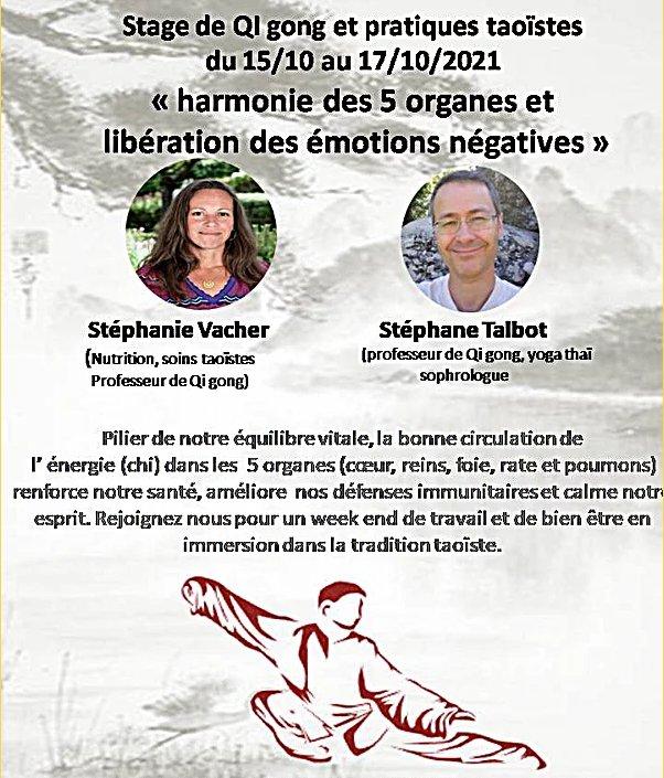 Stage QiGong Stéphanie Vacher et Stéphane Talbot